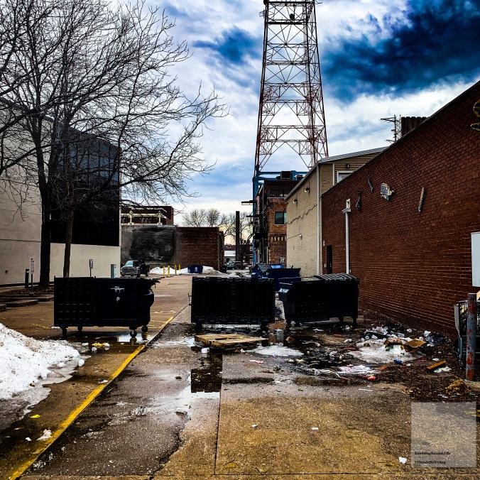 1197 Dumpster Wall